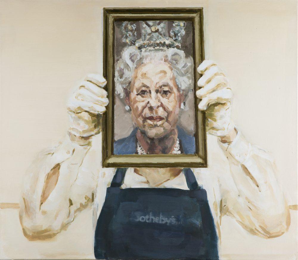 """Eglė Karpavičiūtė. Be pavadinimo, 2016 (drobė, aliejus, 70 x 80 cm). """"Lewben Art Foundation"""" kolekcija"""