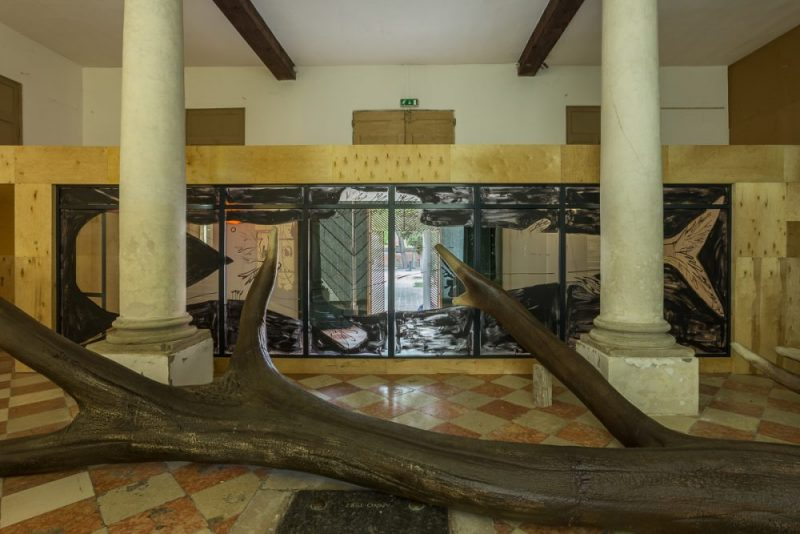 Lietuvos paviljonas 57-ojoje Venecijos bienalėje (Nuotr. aut. Andrej Vasilenko)